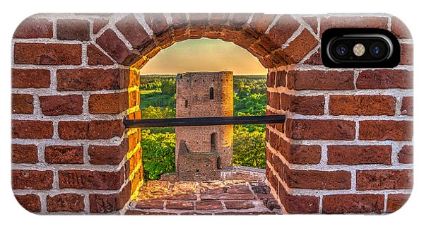 Red Castle Window View IPhone Case