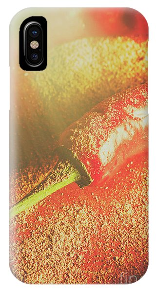 Bell iPhone Case - Red Cayenne Pepper In Spicy Seasoning by Jorgo Photography - Wall Art Gallery