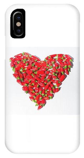 Red Chillie Heart II IPhone Case