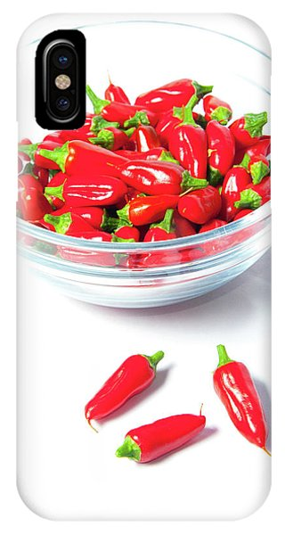 Red Chillies In A Bowl II IPhone Case