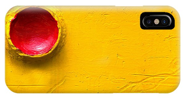 Red Circle In The Corner IPhone Case