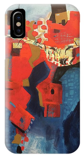 IPhone Case featuring the painting Red City by Judith Visker