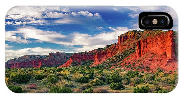 Red Cliffs Of Caprock Canyon 2 IPhone Case