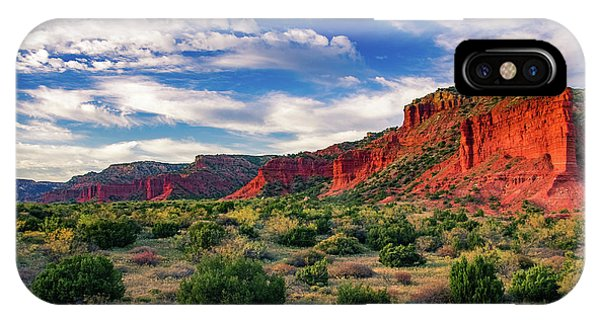 Red Cliffs Of Caprock Canyon IPhone Case