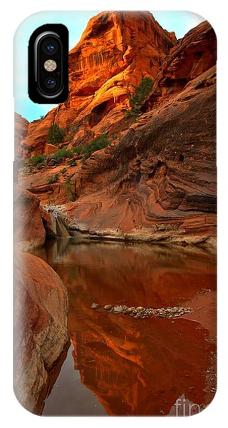 Red Cliffs Reflections IPhone Case