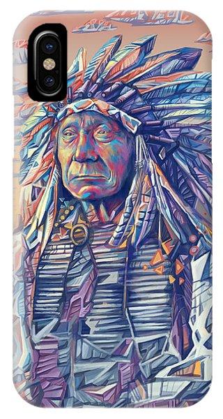 Grand Canyon iPhone Case - Red Cloud Decorative Portrait by Bekim Art