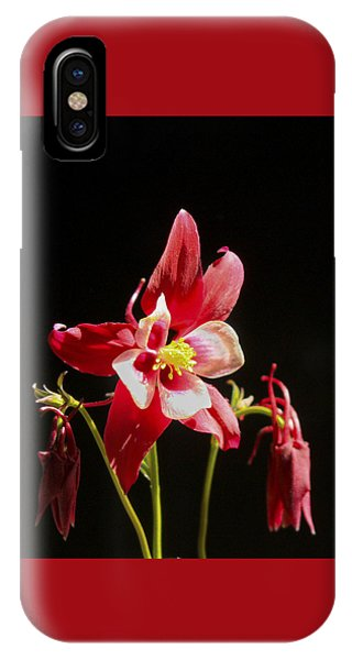 Red Columbine Flower IPhone Case