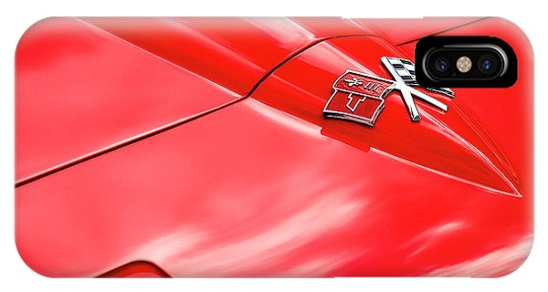 Red Corvette Hood IPhone Case
