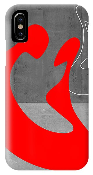 Abstract Figurative iPhone Case - Red Couple by Naxart Studio