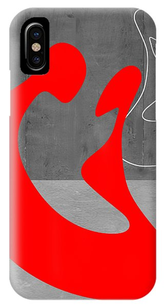 iPhone Case - Red Couple by Naxart Studio