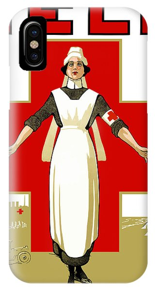 Cross iPhone Case - Red Cross Nurse - Help by War Is Hell Store