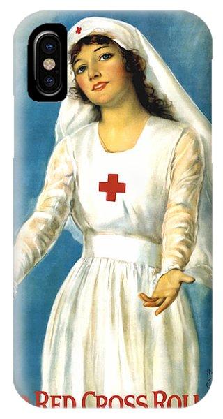 Cross iPhone Case - Red Cross Nurse - Ww1 by War Is Hell Store