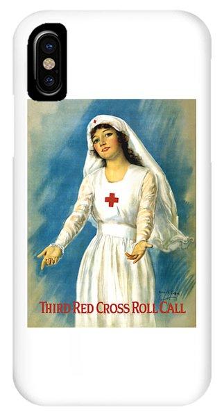 Cross iPhone X Case - Red Cross Nurse - Ww1 by War Is Hell Store