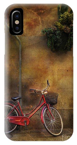 Red Crown Bicycle IPhone Case