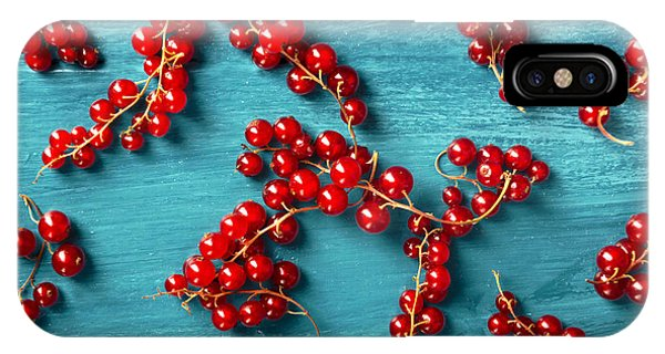 Menu iPhone Case - Red Currant by Jelena Jovanovic