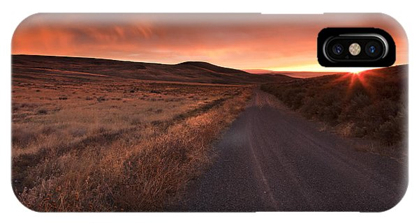 Country iPhone Case - Red Dawn by Mike  Dawson