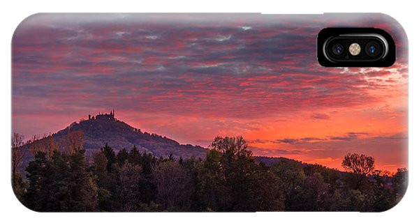 Red Dawn Over The Hohenzollern Castle IPhone Case