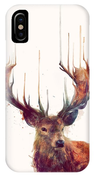 Nature iPhone Case - Red Deer by Amy Hamilton