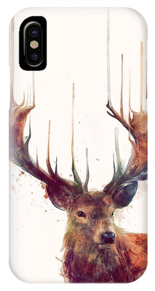 Illustration iPhone Case - Red Deer by Amy Hamilton