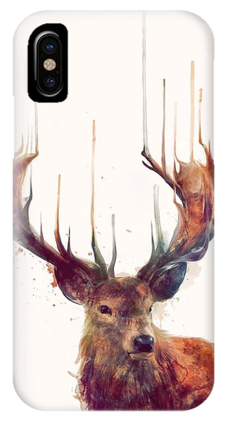 Cute iPhone Case - Red Deer by Amy Hamilton