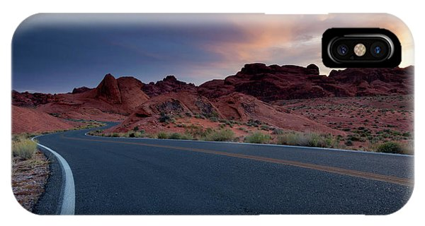 Valley Of Fire iPhone Case - Red Desert Highway by Mike Dawson