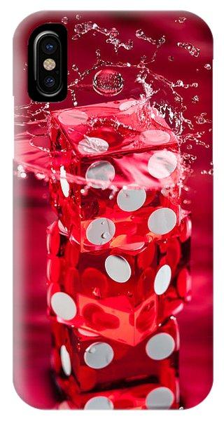 Red Dice Splash IPhone Case
