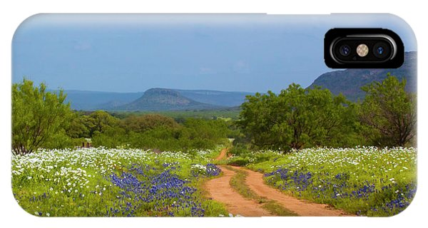 Red Dirt Road With Wild Flowers IPhone Case