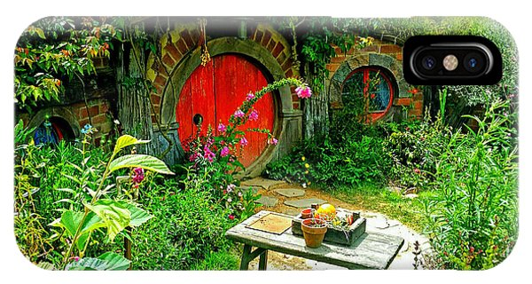Red Door Hobbit Home Photo IPhone Case