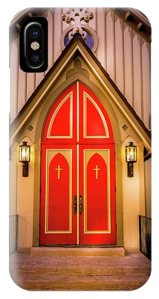 IPhone Case featuring the photograph Red Doors by Allin Sorenson