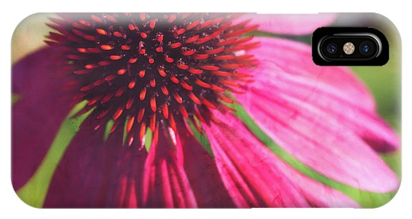 IPhone Case featuring the photograph Red Echinacea by Anna Louise