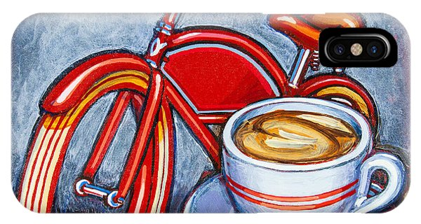 Red Electra Delivery Bicycle Cappuccino And Amaretti IPhone Case