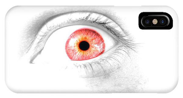 Eye Ball iPhone Case - Red Eye by Jorgo Photography - Wall Art Gallery