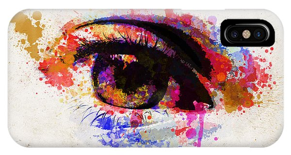 Imagination iPhone Case - Red Eye Watercolor by Delphimages Photo Creations