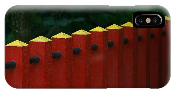 Red Fence IPhone Case