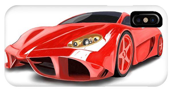 Red Ferrari IPhone Case