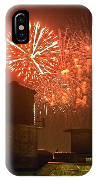 Red Fireworks IPhone Case