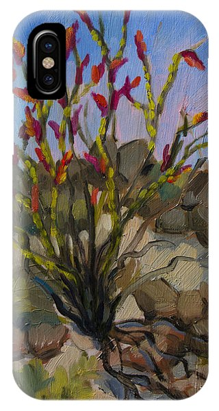 Red Flame Ocotillo 5 IPhone Case