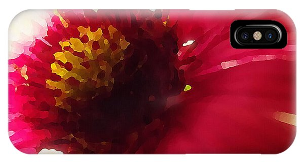 Red Flower Abstract IPhone Case