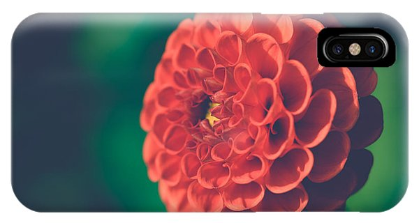 Red Flower Against Greenery IPhone Case