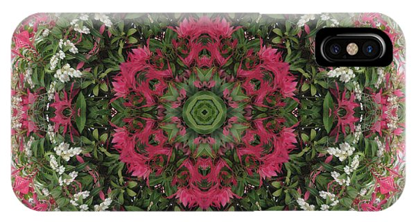 Red Flower Faces Kaleidoscope IPhone Case