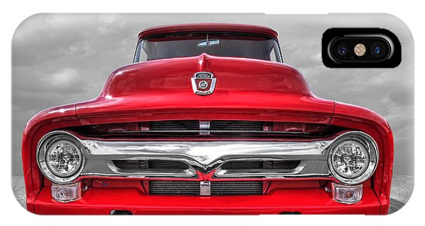 Red Ford F-100 Head On IPhone Case