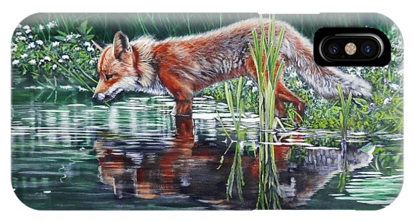 Red Fox Reflecting IPhone Case