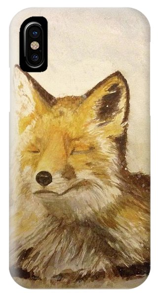 Red Fox Rest IPhone Case