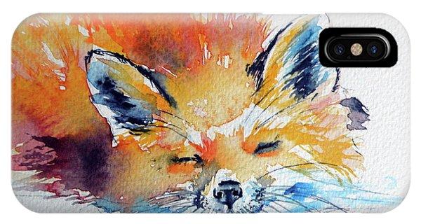 Red Fox Sleeping IPhone Case