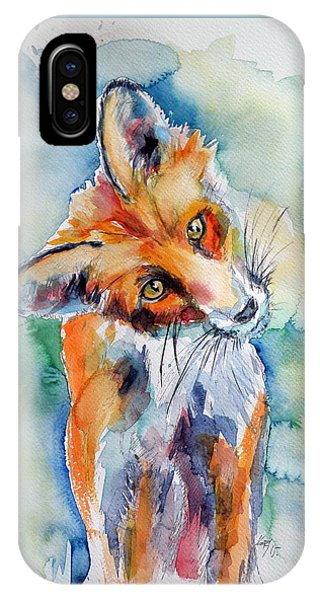 Red Fox Watching IPhone Case