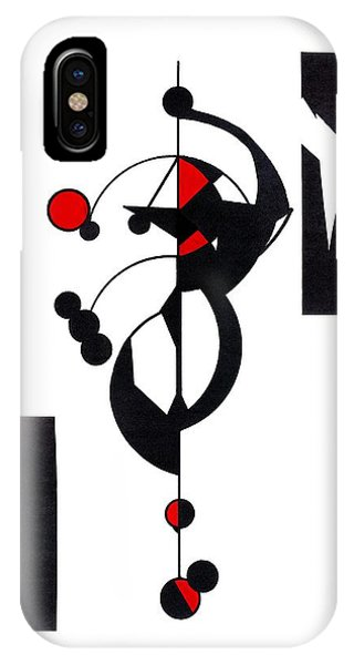 Red Geo Design IPhone Case