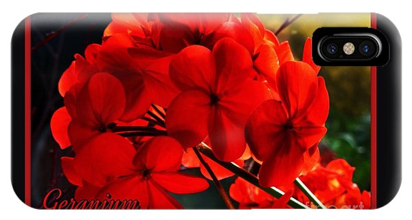 Red Geranium IPhone Case