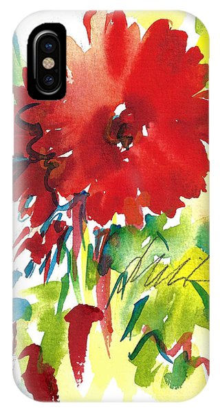 Gerberas Red, White, And Blue IPhone Case