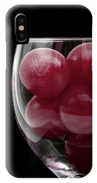 Red Grapes In Glass IPhone Case