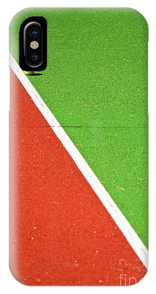 Colorful iPhone Case - Red Green White Line And Tennis Ball by Silvia Ganora